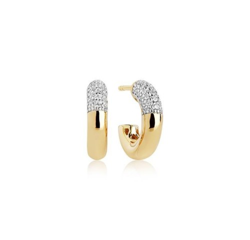 Gold Plated Sterling Silver Cubic Zirconia Earrings from Sif Jakobs
