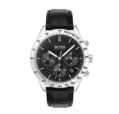 Black-dial chronograph watch from Hugo Boss